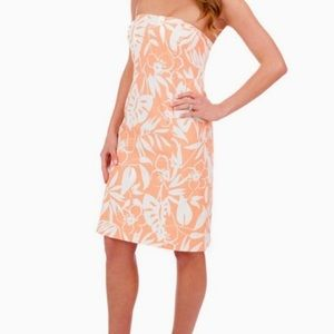 Vineyard Vines Orange Floral Dress